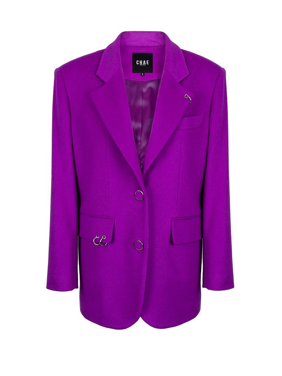 The Back to classic tailored jacket [Pop purple]
